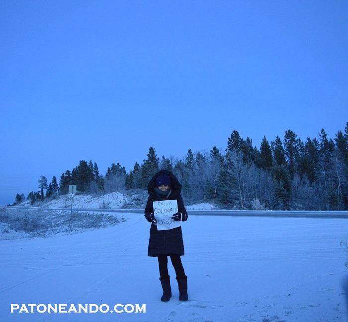 Las foto las tomé como pude. Debido al frío y mis guantes super gigantes, no podía hacer los ajustes