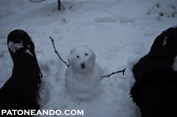y aquí con el alie, perdón, el muñeco de nieve que Ying Ying hizo