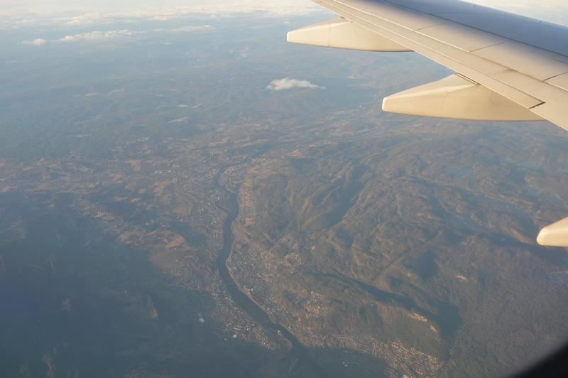 Los fiordos de Noruega vistos desde el avión