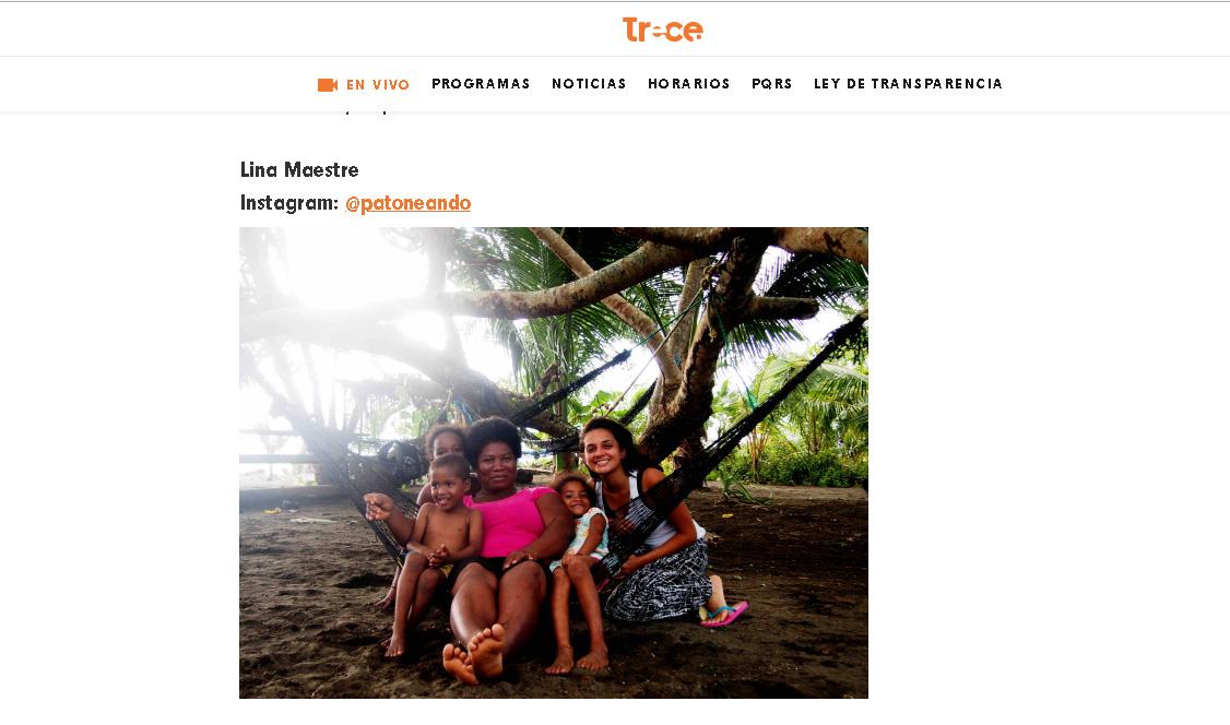 Canal trece Entrevista Patoneando Blog de Viajes - Lina Maestre